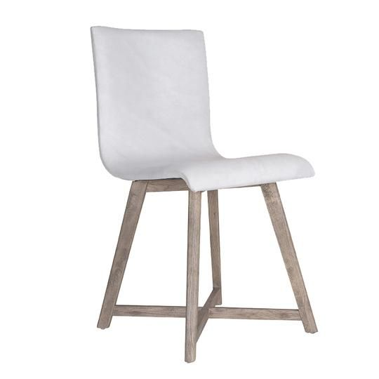 Juno Dining Chair | White Leather