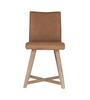 Juno Dining Chair | Havana Brown Leather