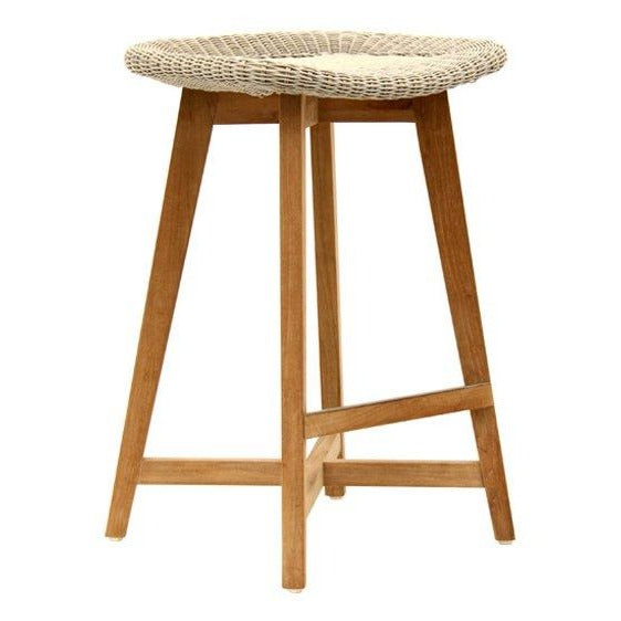 SKAL BACKLESS BAR STOOL - 2 SIZES / WHITEWASH (INDOOR-OUTDOOR)