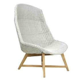 SKAL HIGH-BACK LOUNGE CHAIR / ICE WHITE (INDOOR-OUTDOOR)