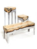 Wood Casting Slim Console / Cypress or Eucalyptus