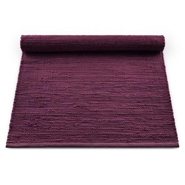 Cotton Remnant Rug | Bold Raspberry