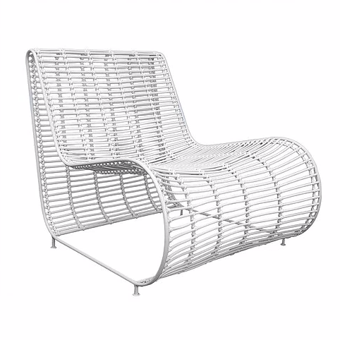 CUBA OCCASIONAL CHAIR | WHITE | INDOOR-OUTDOOR