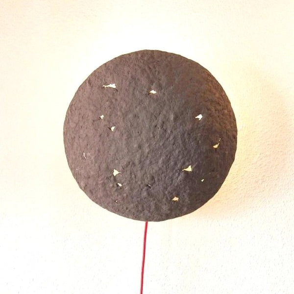 ECLIPSE SCONCE LAMP / RECYCLED PAPER / GREY
