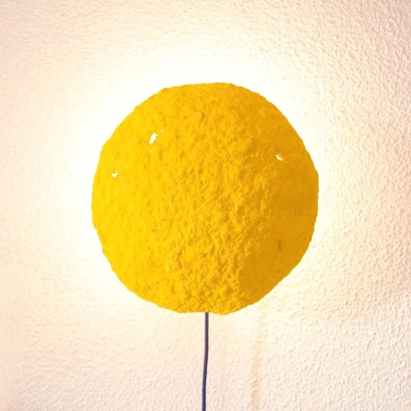 ECLIPSE SCONCE LAMP / RECYCLED PAPER / YELLOW