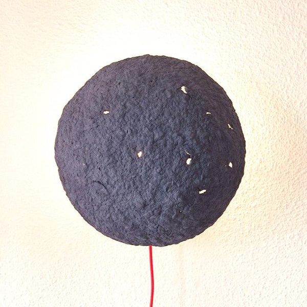 ECLIPSE SCONCE LAMP / RECYCLED PAPER / BLUE
