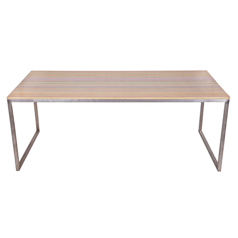 Reclaimed Skateboards Dining Table | DecksTop Steel™