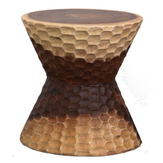 HAMMER STOOL + SIDE TABLE / NATURAL