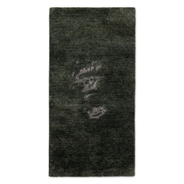 BAMBOO SILK RUG / JUNGLE GORILLA / 10% TO ANIMAL PROTECTION CHARITY