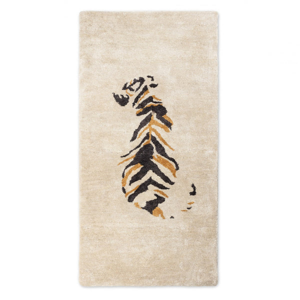 BAMBOO SILK RUG / JUNGLE TIGER / 10% TO ANIMAL PROTECTION CHARITY