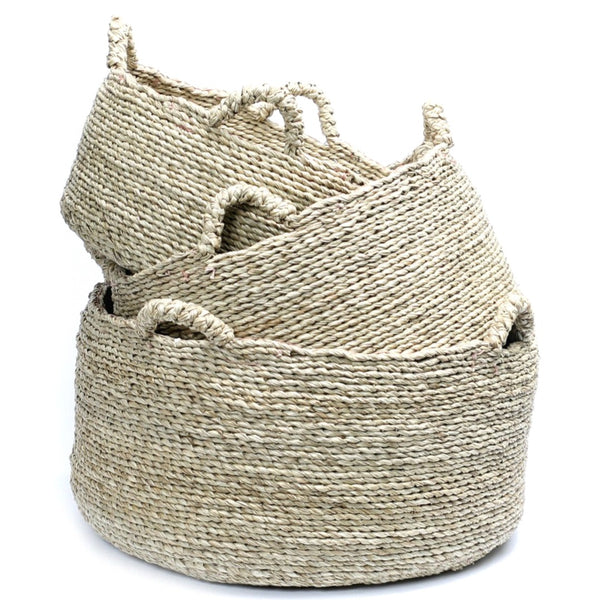 LES QUATRE MAINS BASKETS (SET OF 3) / NATURAL