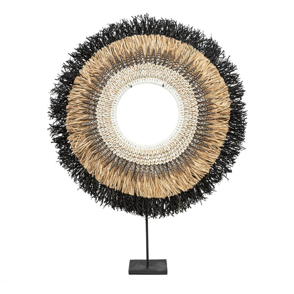 MOJO RAFFIA ON STAND / BLACK