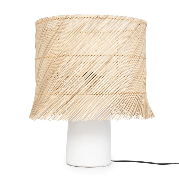 RATTAN TABLE LAMP / WHITE NATURAL