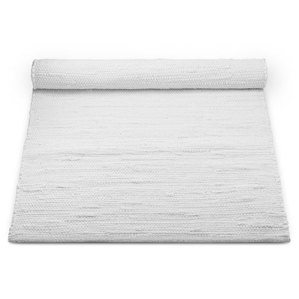 Cotton Remnant Rug | White
