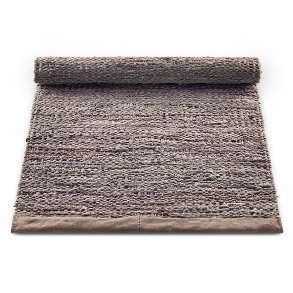 Leather Remnants Rug | Wood