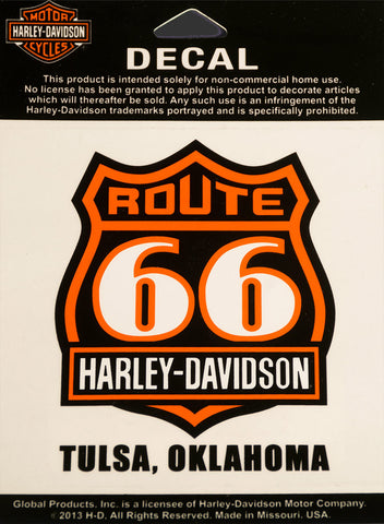 Route 66 Harley-Davidson® Window Decal