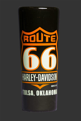 Route 66 Harley-Davidson® Tall Black Shot Glass