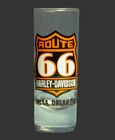 Route 66 Harley-Davidson® Tall Clear Shot Glass