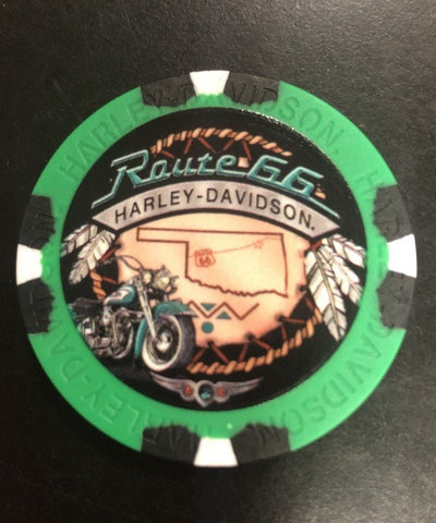 Route 66 Harley-Davidson® Dream Catcher Poker Chip