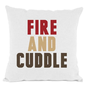 White Fire and Cuddle Throw Pillow