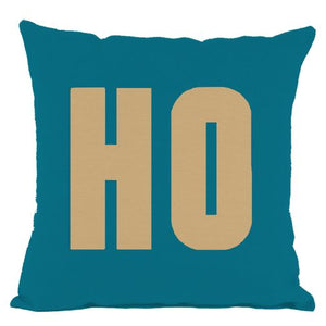 Dark Teal Gold HO Throw Pillow
