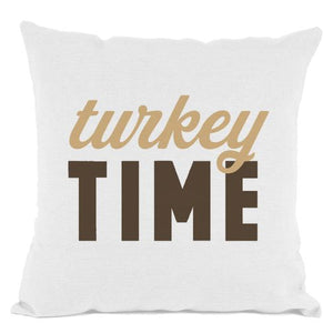 White Turkey Time Throw Pillow