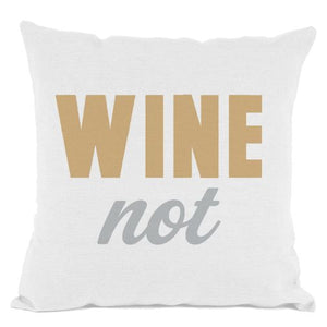White W.N. Throw Pillow