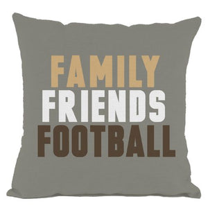 Grey Family Friends Football Throw Pillow