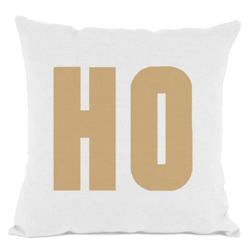 White Gold Ho Throw Pillow