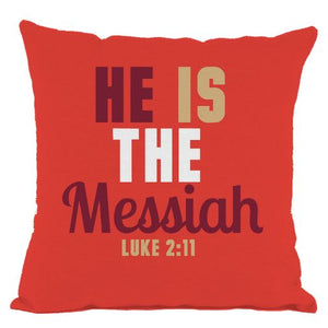 Red He is the Messiah Throw Pillow
