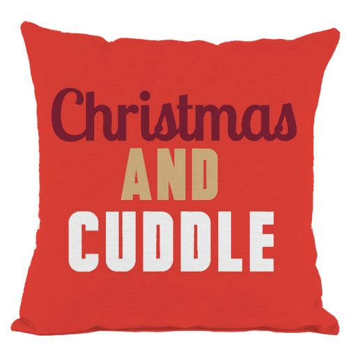 Red Christmas and Cuddle Throw Pillow
