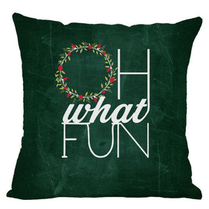Chalkboard Oh What Fun Throw Pillow