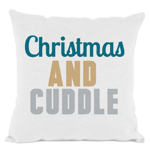 White Christmas and Cuddle Throw Pillow