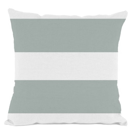 Grey and White Striped Throw Pillow