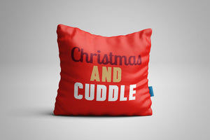Fun, Festive Christmas and Cuddle Red Christmas Throw Pillow