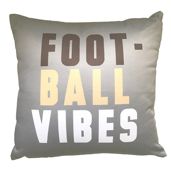 Grey Football Vibes Fall Throw Pillow