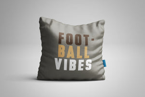 Fun, Festive Football Vibes Grey Throw Pillow