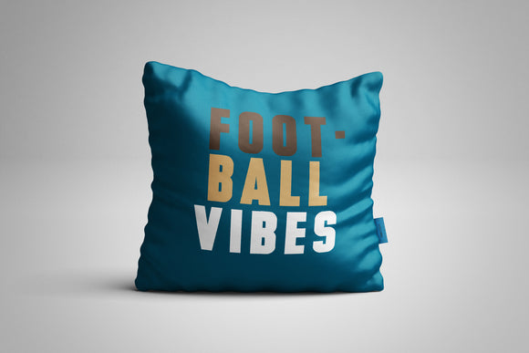 Fun, Festive Football Vibes Dark Teal Throw Pillow
