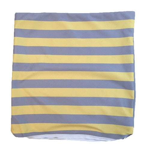 Yellow and Grey Stripe Throw Pillow Cover ONLY