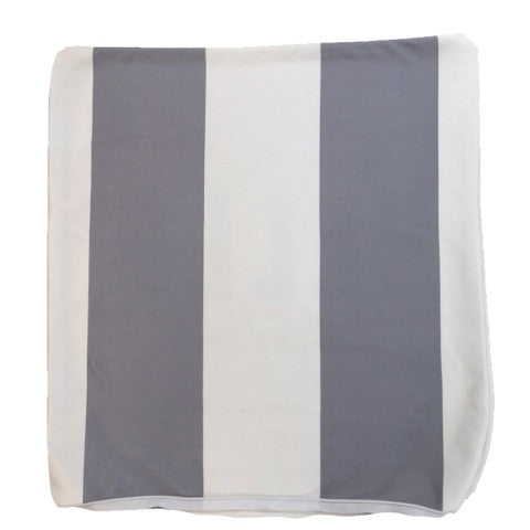 Grey and White Color Block Throw Pillow Cover ONLY
