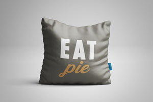 Fun, Festive Eat Pie Grey Throw Pillow