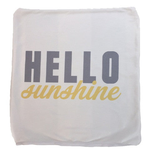 Hello Sunshine Throw Pillow Cover ONLY
