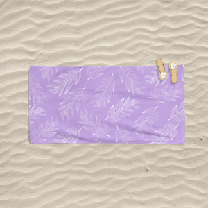Lavender Palms Beach Towel