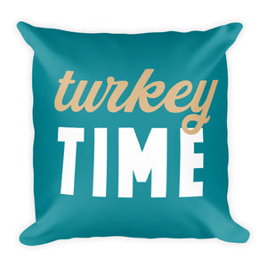 Turkey Time Fall Throw Pillow