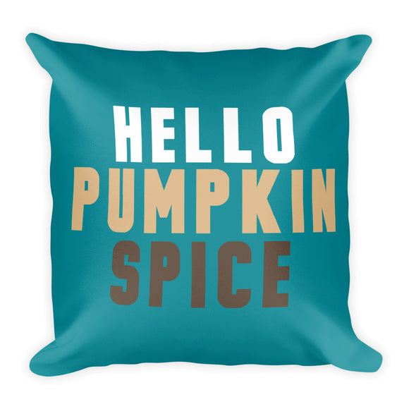 Hello Pumpkin Spice Fall Throw Pillow