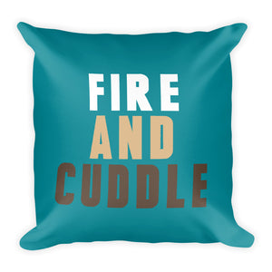 Fire & Cuddle Fall Throw Pillow