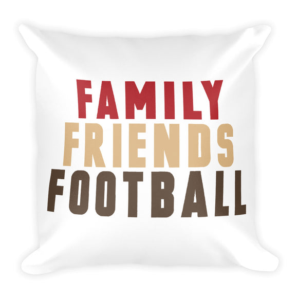 Family Friends Football Fall Throw Pillow