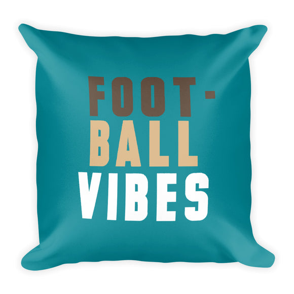 Football Vibes Fall Throw Pillow