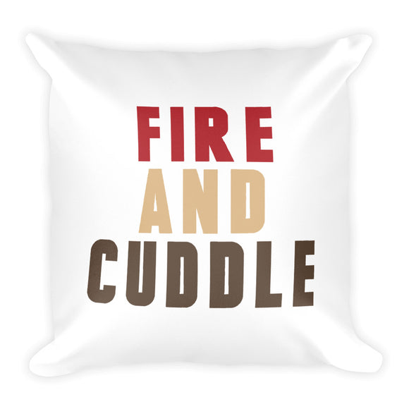 Fire and Cuddle Fall Throw Pillow