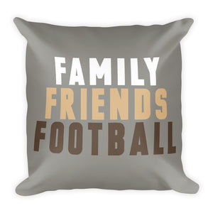 Grey Family Friends Football Fall Throw Pillow